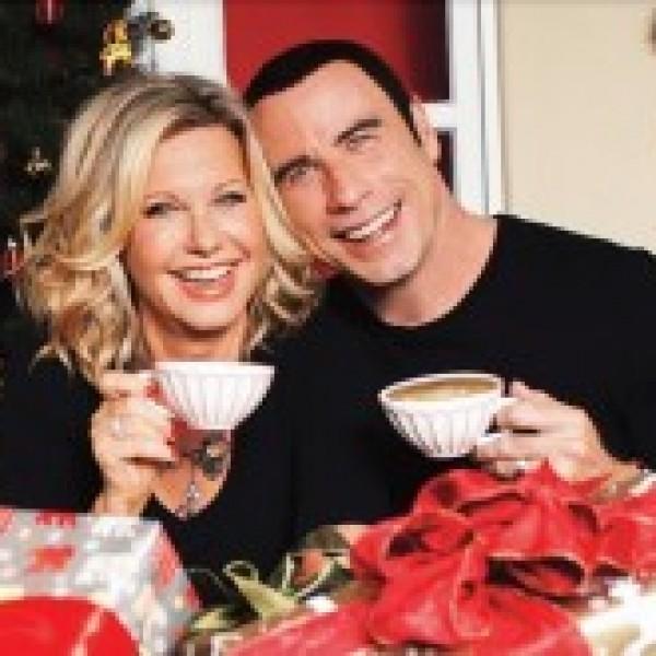 john travolta and olivia newton john reunite after 30 years for this christmas album out nov 13 john travolta